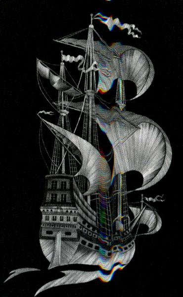 Картина из соломы «Парусник» (автор А. М. Андреева)