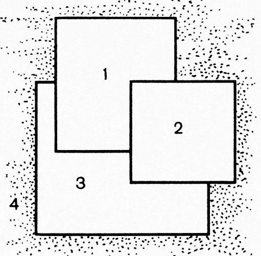 Схема I: 1 — сальвия блестящая